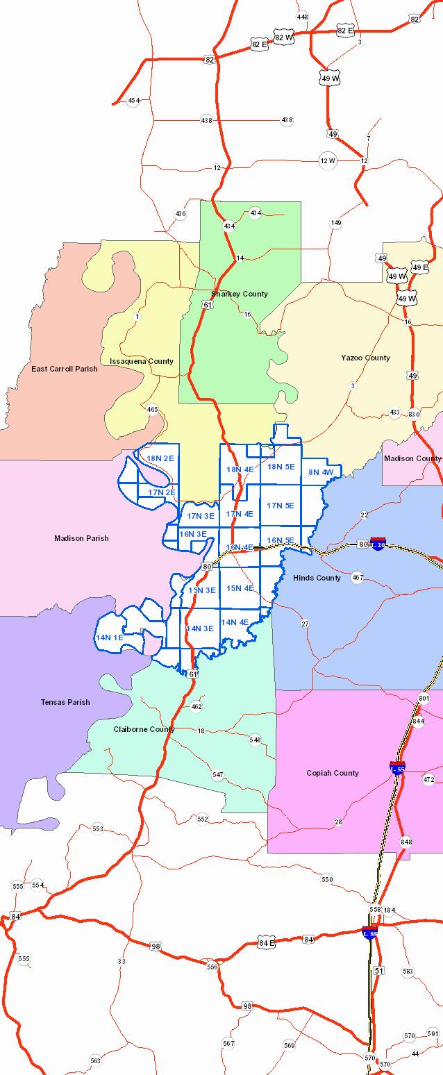 Warren County Tax Map Warren County, MS